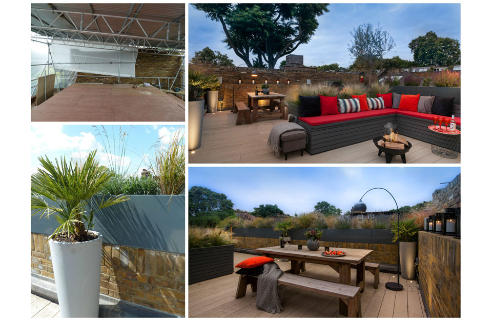 Roof Terrace Collage